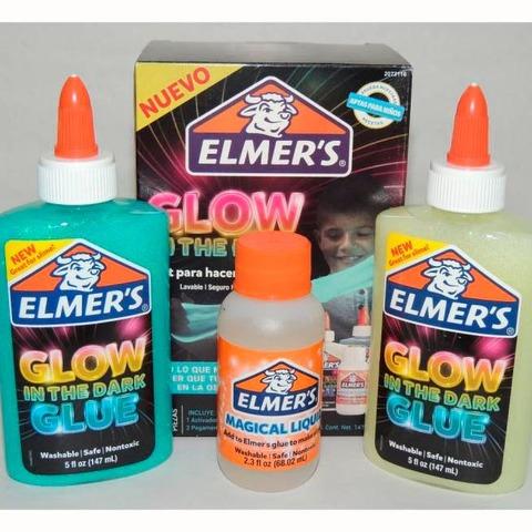 Adhesivo Glitter Elmers Kit para slime Glow
