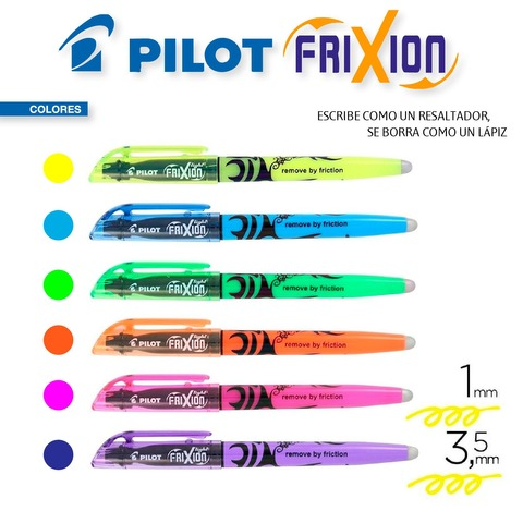 Resaltador Pilot Frixion (Borrable) Colores Flúo