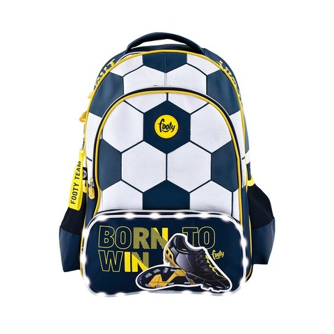 Mochila Footy Futbol c/luz 18 F1103 Azul y blanco
