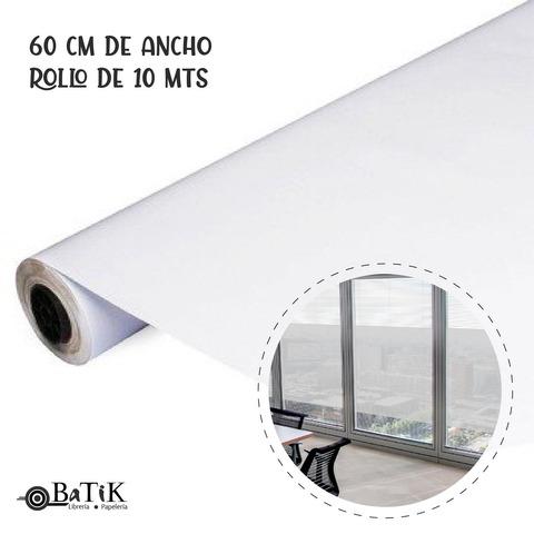 PVC Autoadhesivo Esmerilado 60 cm.de ancho x 10 Mts.