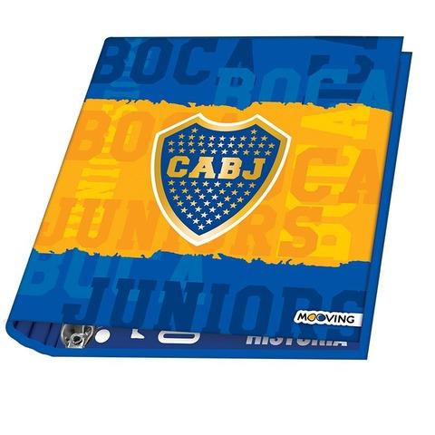 Carpeta Nº3 3x40 Mooving Boca Jrs. Fondo Bandera