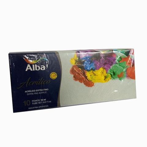 Acrilico Alba 18ml Caja x10 Surtidos
