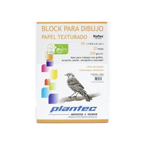 Block Plantec A5 Texturado 350gr 20h Emblocado