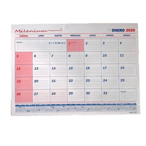 Calendario 2020 Milenium Sin Espiral 23.5x32.5 Cm