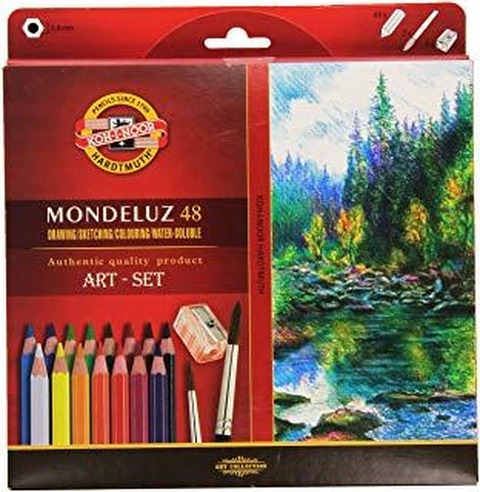 Lápiz Koh-i-noor Acuarelable Mondeluz Cartón Set x48