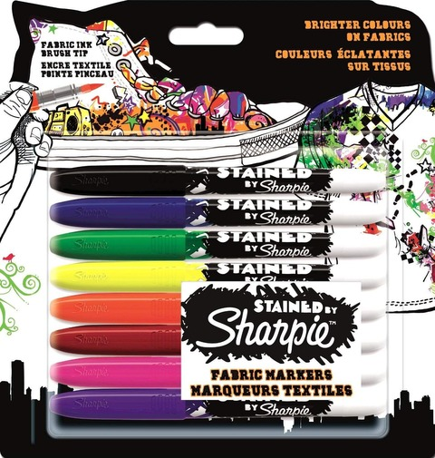 Marcador Sharpie Fabric Set x8