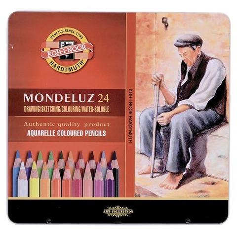 Lápiz Kohinoor Acuarelable Mondeluz lata x24