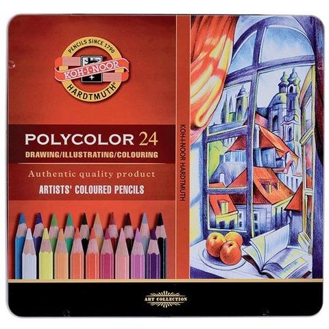 Lápiz Kohinoor Polycolor x24 Lata