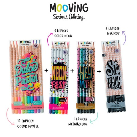 Oferta Mooving Coloring X4 Productos