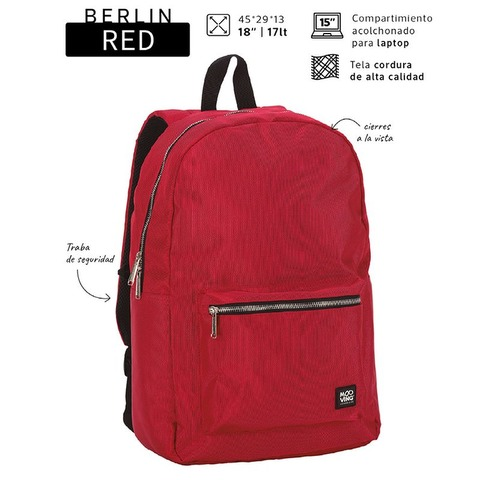 Mochila Mooving Berlin Red 18 71321