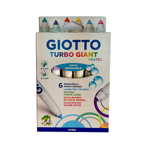 Marcador Giotto Turbo Giant x6 Pastel