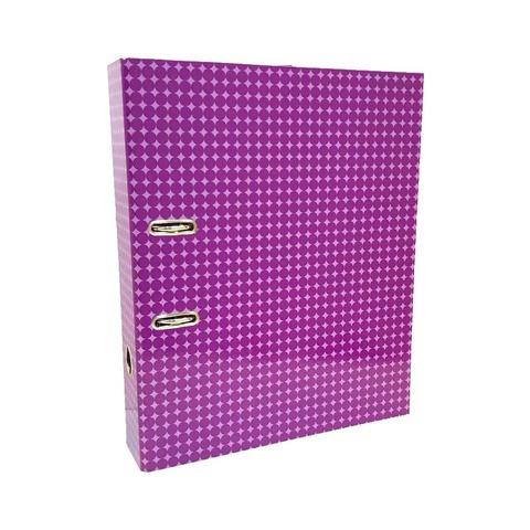 Bibliorato Fantasía Oficio Lomo 7cm Círculos Violeta