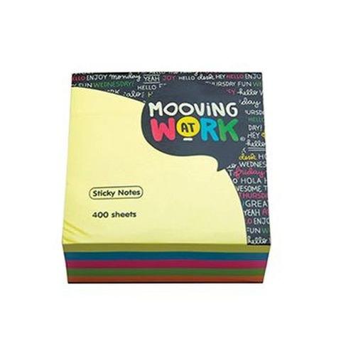 Notas Adh. Mooving At Work 51x51 250hojas Neón Clásico (2100103)