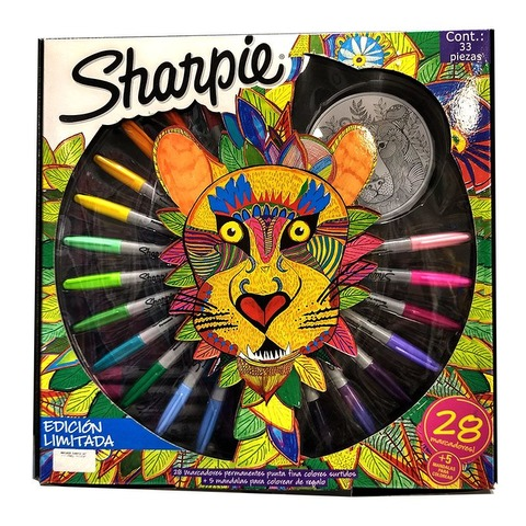 Marcadores Sharpie Ruleta Set x28 Finos