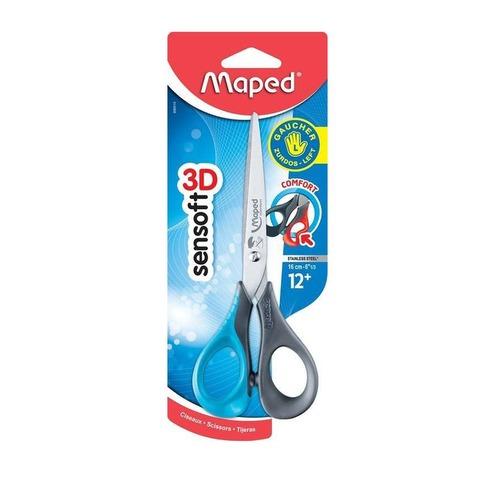 Tijera Escolar Maped 16cm Sensoft para Zurdos