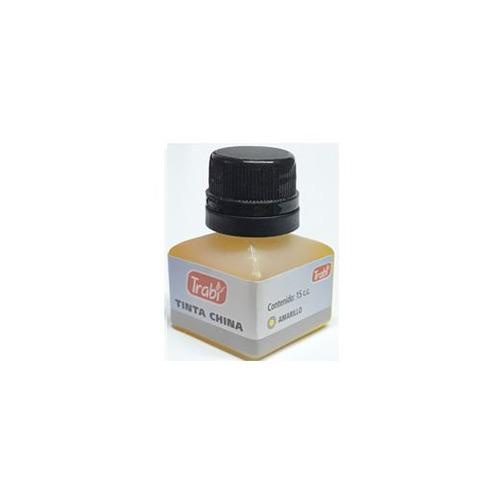 Tinta China Trabi 15cc. Común color Amarillo