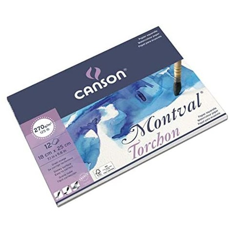 Block Canson Montval 270grs - 18x25 (Encolado)