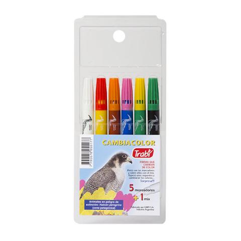 Marcador Trabi Pinturon  x 6 Cambia Color (Grueso)