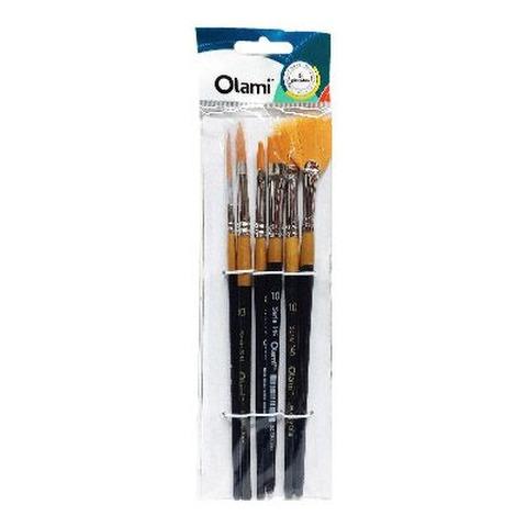 Pack de Pinceles Olami x6 Surtido Grueso