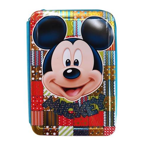 Cartuchera 3 Pisos Lata Lic. Mickey KM882