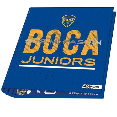 Carpeta Nº3 3x40 Mooving Boca Jrs. Fondo Azul