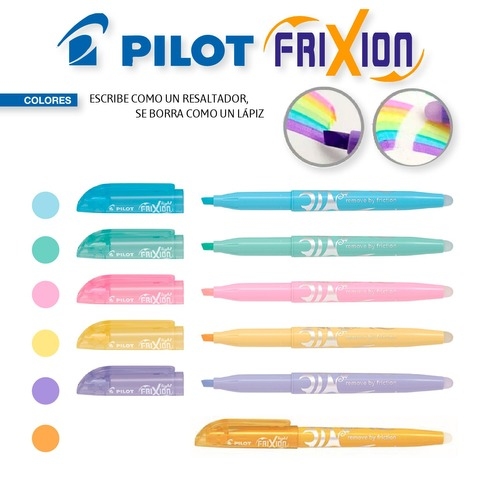 Resaltador Pilot Frixion (Borrable) Colores Pastel