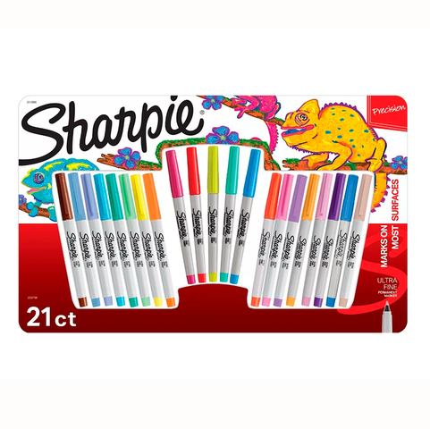 Marcador Sharpie Set x21 Punta Ultrafina