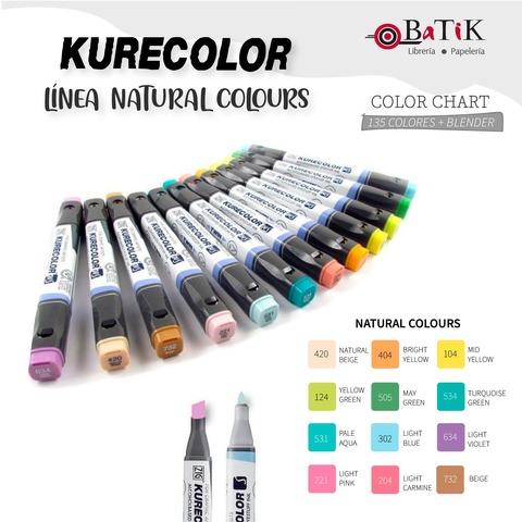 Marcador Kurecolor - Línea: Natural Colours (colores naturales)