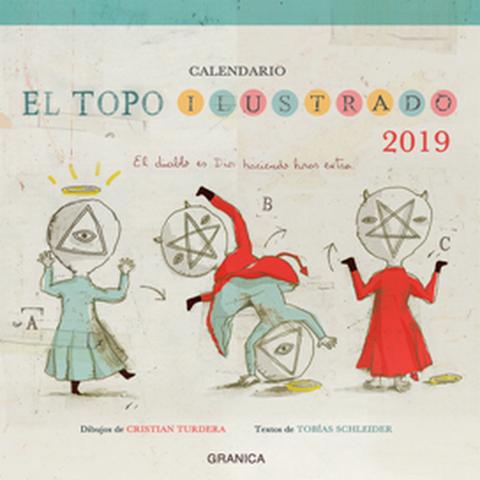 Calendario 2019 de pared El Topo Ilustrado
