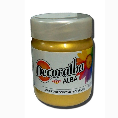 Acrilico Alba Decoralba 200ml Perlado Oro