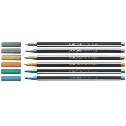 Marcador Stabilo Pen 68 x6 Metalizados