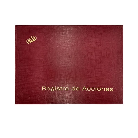 Libro Rab Registro de Acciones TD-100 Folios