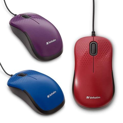 Mouse Óptico Verbatim Silencioso con Cable