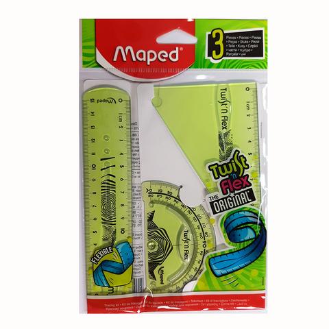 Set de Geometría Maped Twist-n 15cm 3 Piezas Verde