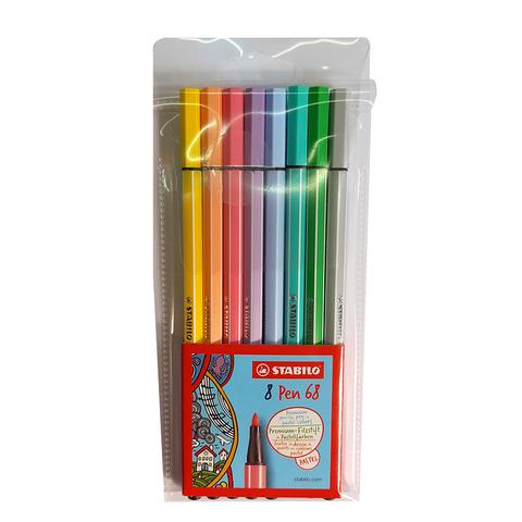 Marcador Stabilo Pen 68 x8 Pastel
