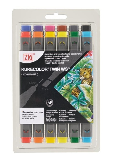Marcadores Kurecolor Set x12