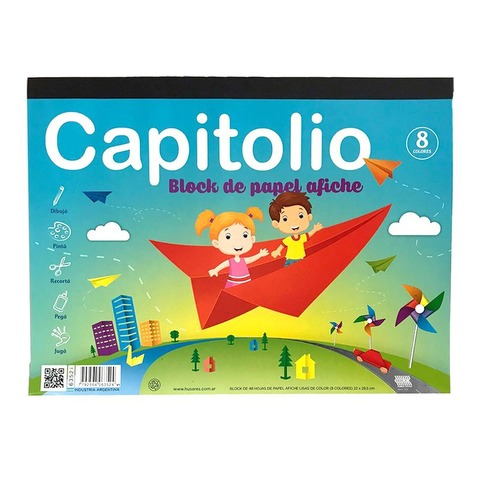 Block de dibujo Nº5 Papel Afiche Capitolio 48Hojas