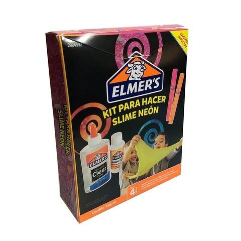 Adh. Glitter Elmers Kit para Slime Neón