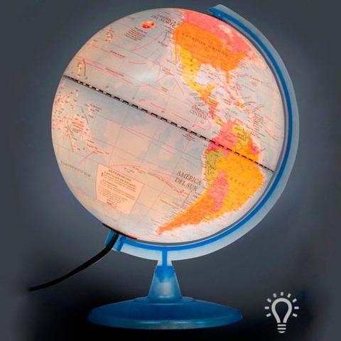 Globo Terraqueo Político con luz 25cm (257LW)