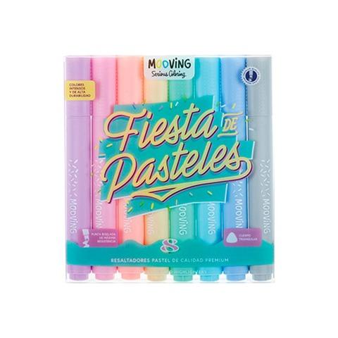 Mooving Coloring Resaltadores x8 Pastel