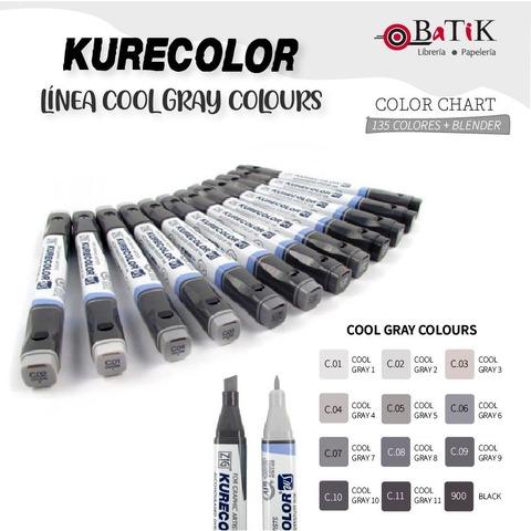 Kurecolor Marcador - Línea: Cool Gray Colours (grises fríos y negro)