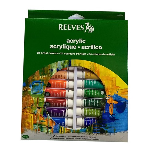Acrílicos Set Reeves x24 Pomos de 10ml