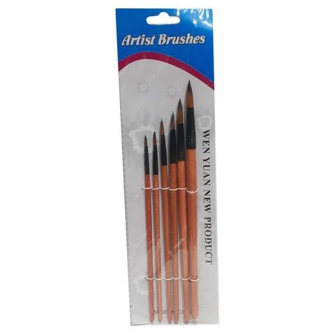 Pack de Pinceles Artist Brusher x6 Redondo