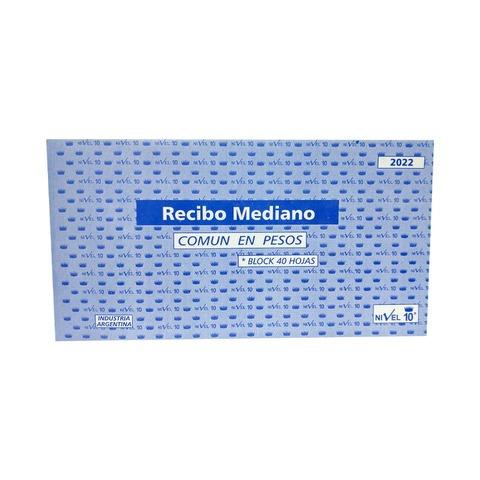 Talonario Recibo Mediano Niv.10 (2022)