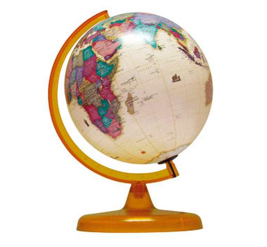 Globo Terraqueo Antiguo 25cm    (257A)