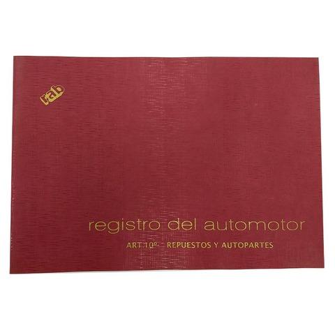 Libro Rab Registro del Automotor TF-25 Folios