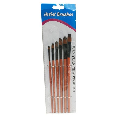 Pack de Pinceles Artist Brusher x6 Lengua de Gato