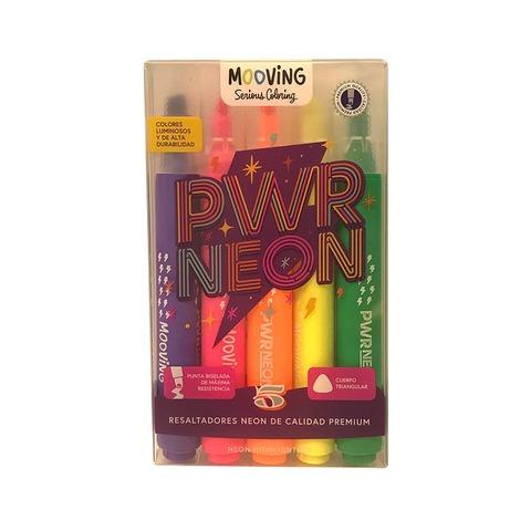 Mooving Coloring Resaltadores x5 Neón