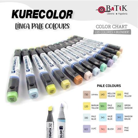 Marcador Kurecolor - Línea: Pale Colours (colores pálidos)