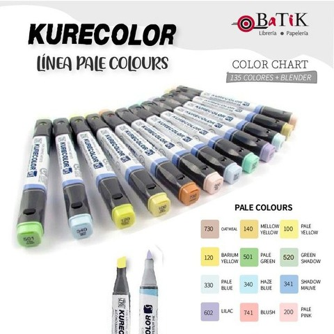 Kurecolor Marcador - Línea: Pale Colours (colores pálidos)